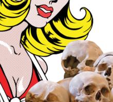 cigarette girl - skulls Sticker