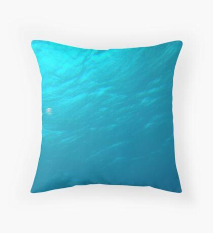 The BlueGreen underwater Throw Pillow