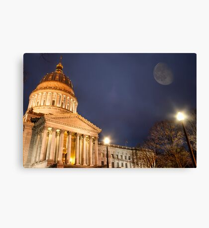 Capital Evening Canvas Print