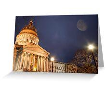 Capital Evening Greeting Card