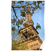 Eiffel Tower in Spring, Paris, France Poster