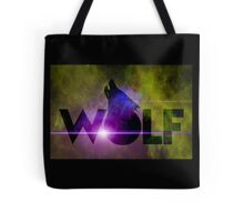 WOLF howling on starfield Tote Bag