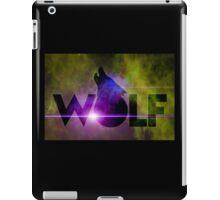 WOLF howling on starfield iPad Case/Skin