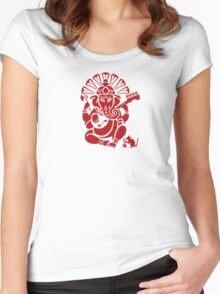 Ganesh plugged in Women's Fitted Scoop T-Shirt