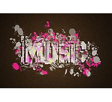 Music Graffiti Style In Magenta And Brown Photographic Print
