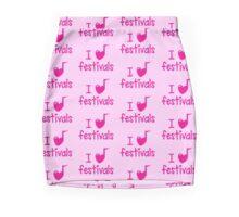 I (musical) heart music festivals Mini Skirt