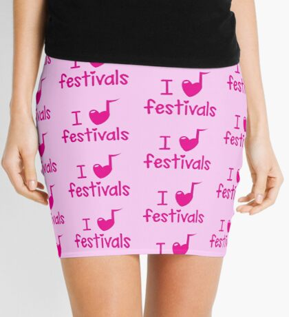 I (musical) heart music festivals Mini Skirt