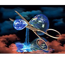 Divided Planet - For World Earth Day Photographic Print