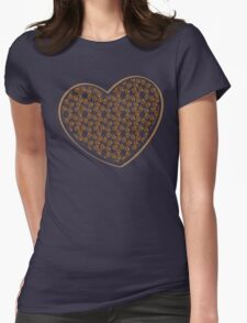 coffee beans heart (love) Womens Fitted T-Shirt