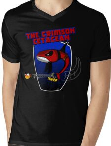 The Crimson Cetacean Mens V-Neck T-Shirt
