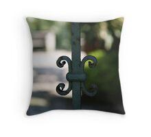 Gate Detail ...Santa Margherita de Liguria Throw Pillow