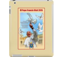Pope Francis 2015 with doves cream background 2 iPad Case/Skin