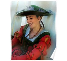 Blushing Bavarian Bridesmaid Poster