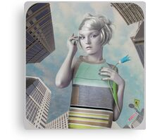 Girl in the big city Metal Print