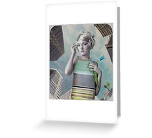 Girl in the big city Greeting Card