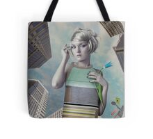 Girl in the big city Tote Bag