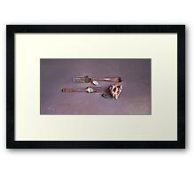 """""""Still life with old forks"""" Framed Print"""