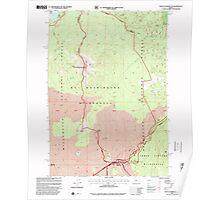 USGS Topo Map Oregon Mount Washington 280846 1997 24000 Poster