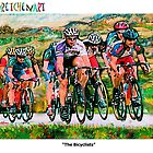 "GretchenArt ""The Bicyclists"" by Gretchenart"