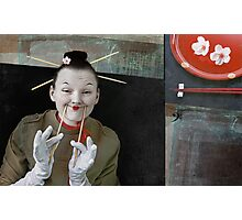Smile in Japanese style Photographic Print