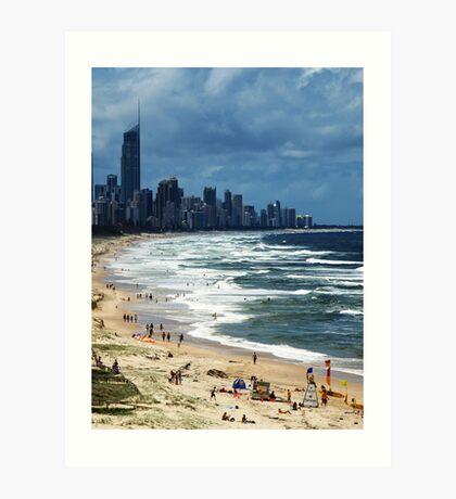 Beach Life Gold Coast Australia Art Print