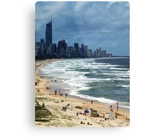 Beach Life Gold Coast Australia Metal Print