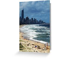 Beach Life Gold Coast Australia Greeting Card