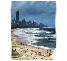 Beach Life Gold Coast Australia Poster