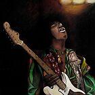 Jimi Hendrix by lindsycarranza