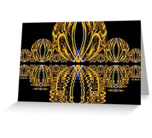 Golden Escher Night Lights  (UF0244) Greeting Card