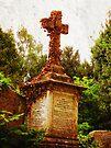 Ivy covered Cross, Graveyard, Bristol, UK by buttonpresser