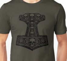 Thors Hammer Black Unisex T-Shirt