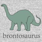 Brontosaurus learning tee by Scott Barker