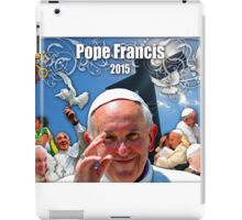 Pope Francis 2015 with Crucifix background iPad Case/Skin