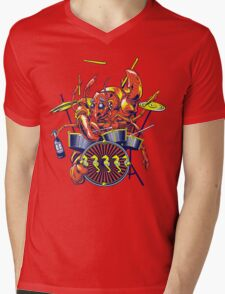 Rocking Lobster Mens V-Neck T-Shirt