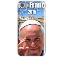 Pope Francis 2015 The Vatican, Rome background 2 iPhone Case/Skin