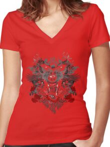 Saberwulf Women's Fitted V-Neck T-Shirt