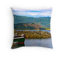 Cowichan Bay View Over the Water Throw Pillow