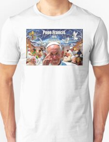 Pope Francis 2015 The Vatican, Rome background 1 T-Shirt