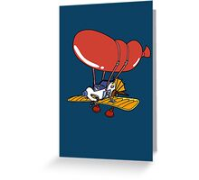 Rescue Rangers Plane Greeting Card