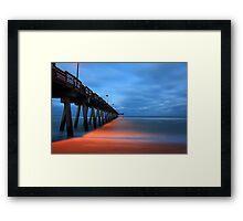 the pier at night Framed Print
