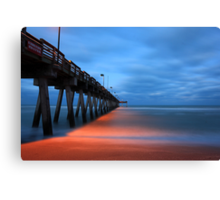 the pier at night Canvas Print