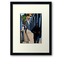 Cross that Bridge Framed Print