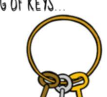 RING OF KEYS- FUN HOME Sticker