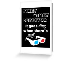 Doctor Who - Timey Wimey Detector 3D Glasses Greeting Card