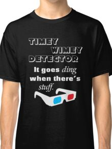Doctor Who - Timey Wimey Detector 3D Glasses Classic T-Shirt