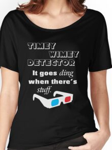Doctor Who - Timey Wimey Detector 3D Glasses Women's Relaxed Fit T-Shirt