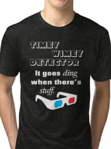 Doctor Who - Timey Wimey Detector 3D Glasses Tri-blend T-Shirt
