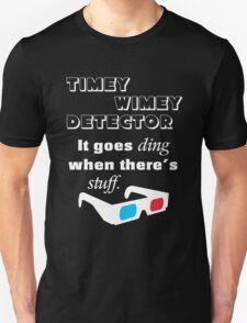 Doctor Who Timey Wimey Detector 3D Glasses T-Shirt