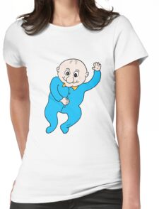 Hi Baby blue Womens Fitted T-Shirt